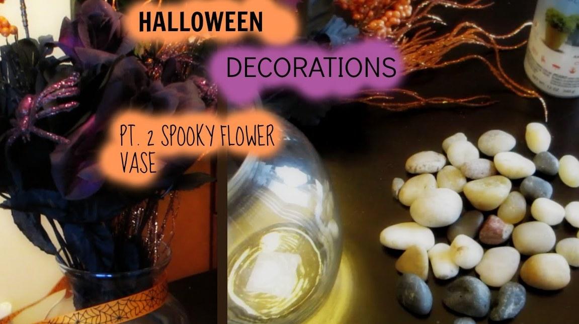 DIY Spooky Vase Halloween Decorations