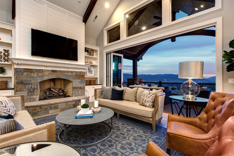 Beach Style Living Room Design