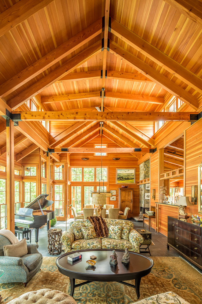 Craftsman Living Room Design