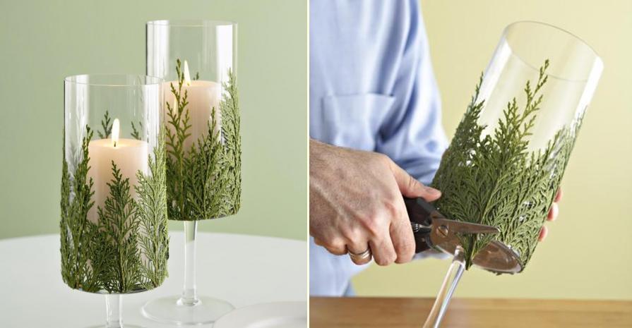 diy-green-candle-holder