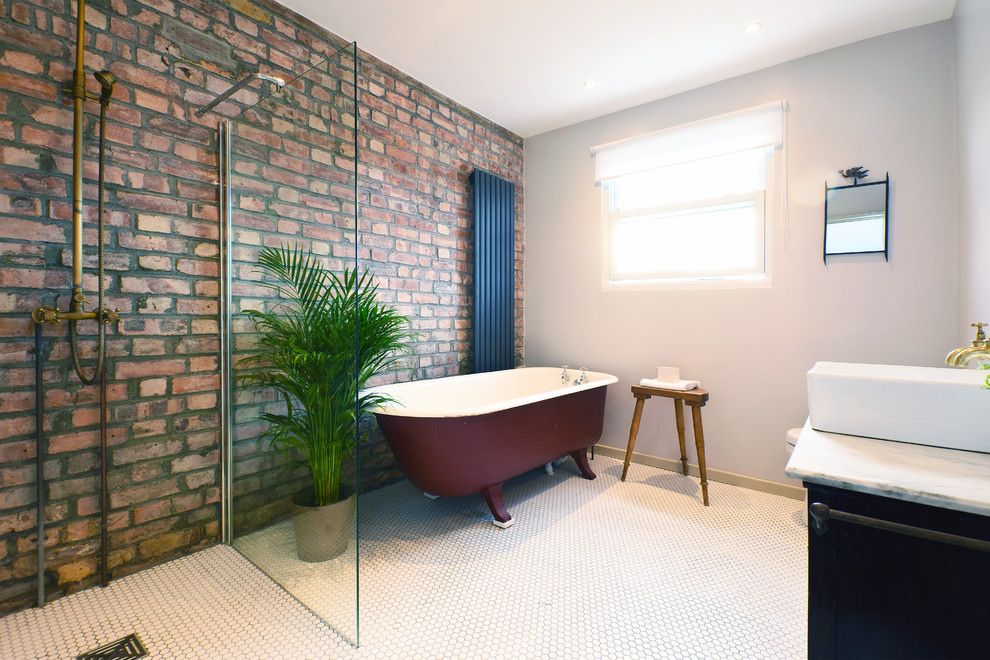 Industrial Master Bathroom
