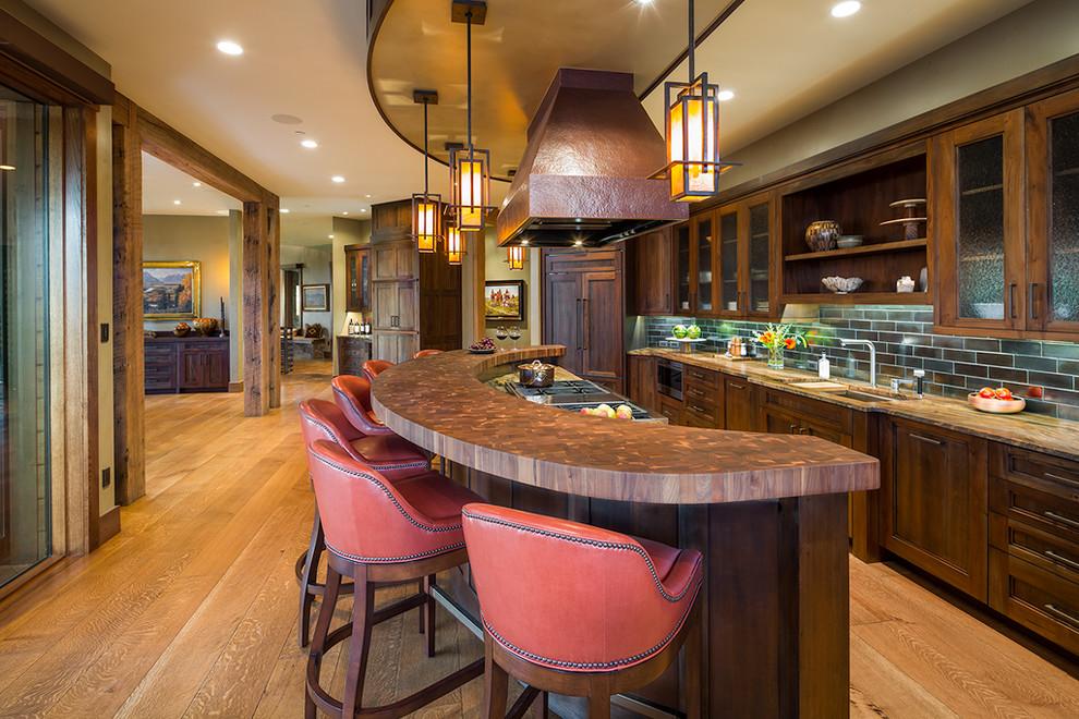 Rustic Galley Kitchen