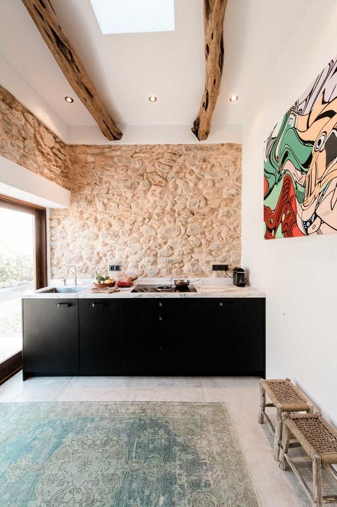Small Mediterranean Style Kitchen
