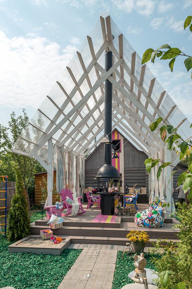 Eclectic Backyard Patio Design