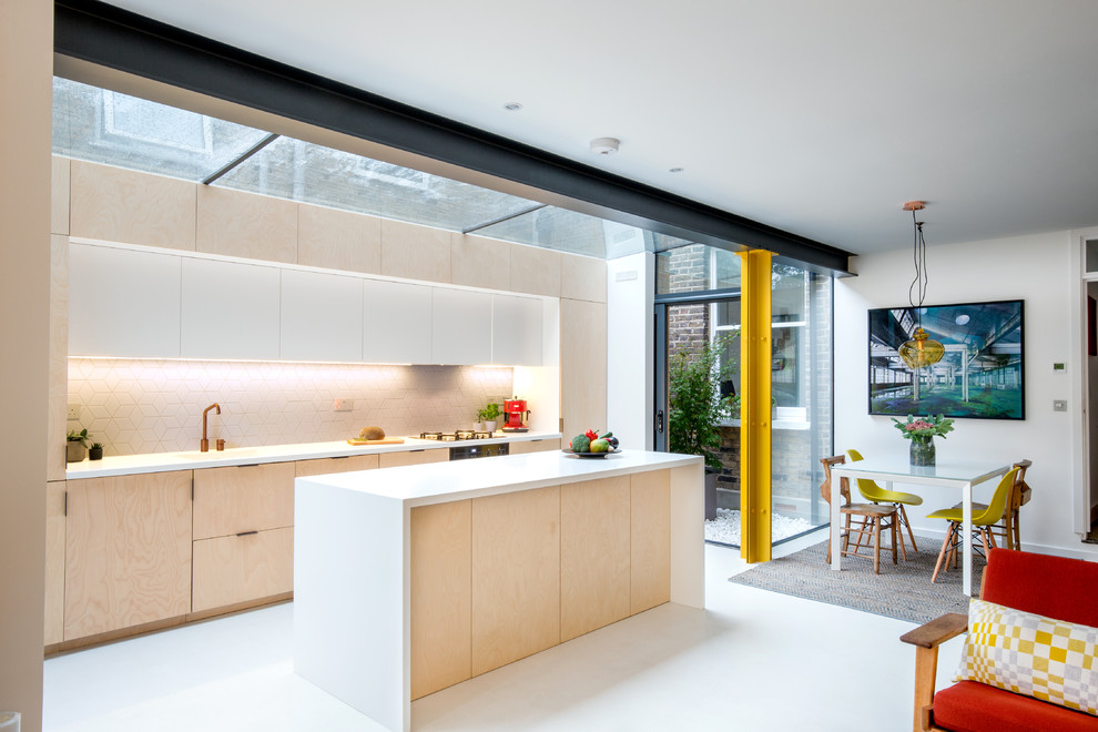 Small Modern Open Concept Kitchen