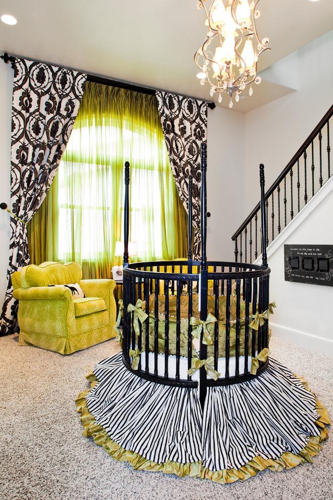 Iron Crib in Eclectic Kids Bedroom