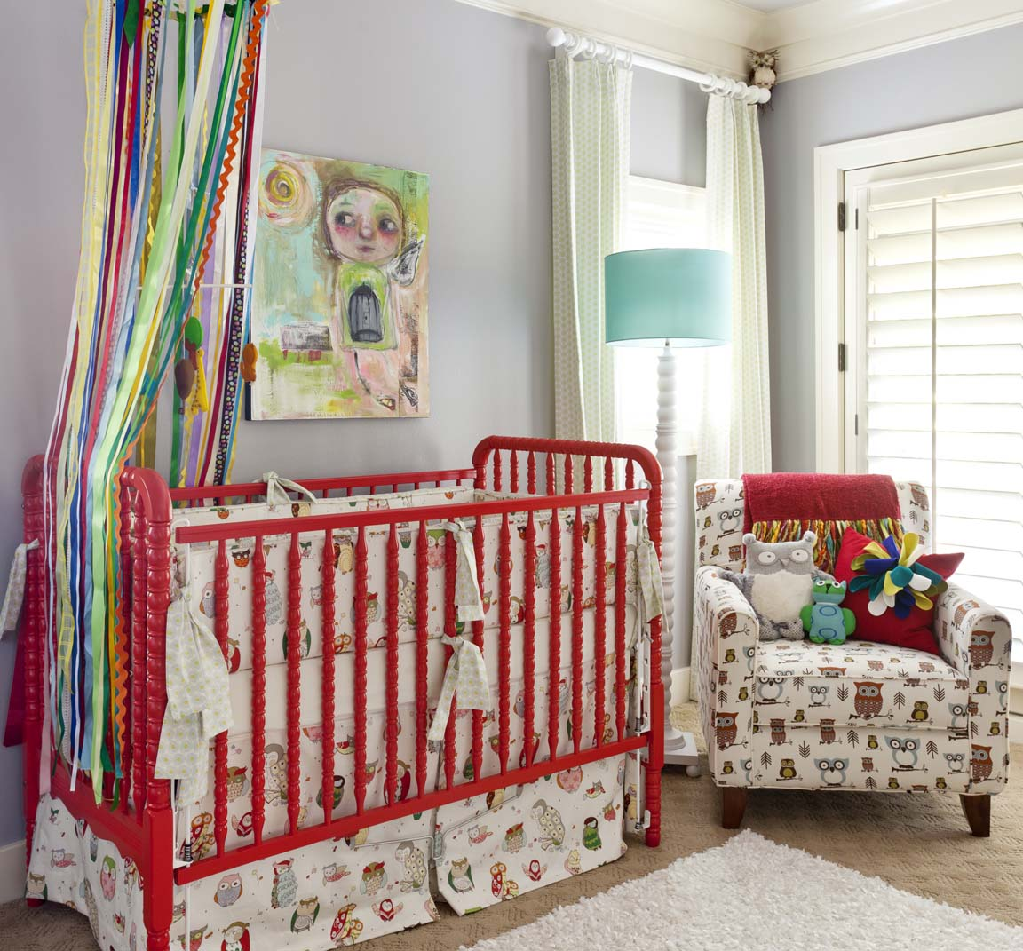 Lovely Red Iron crib