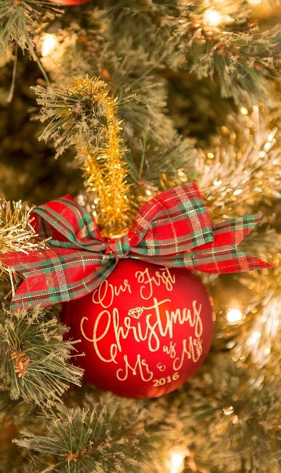 DIY Christmas Newlywed Ornaments