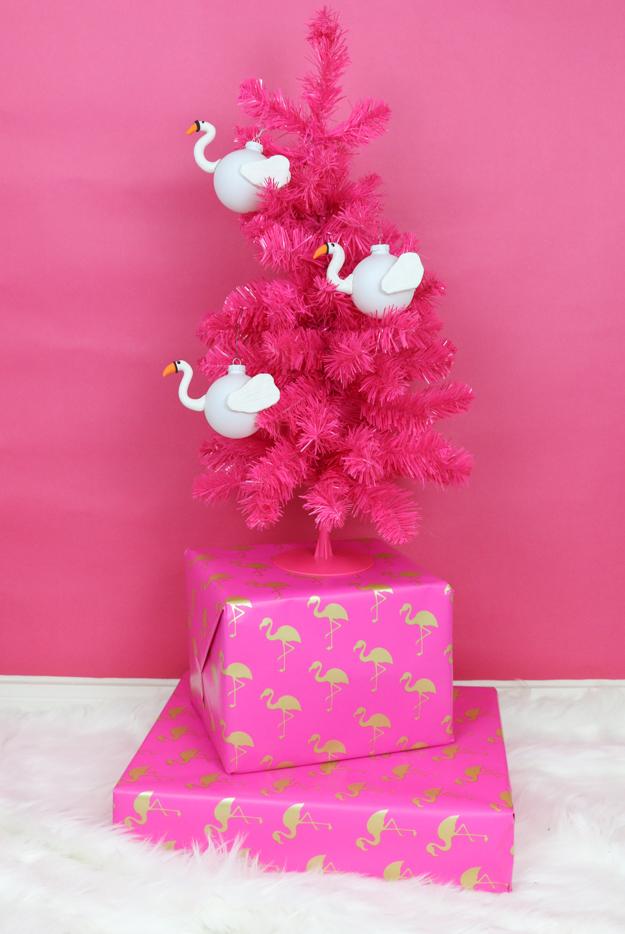 DIY Flamingo and Swan Pool Float Ornaments
