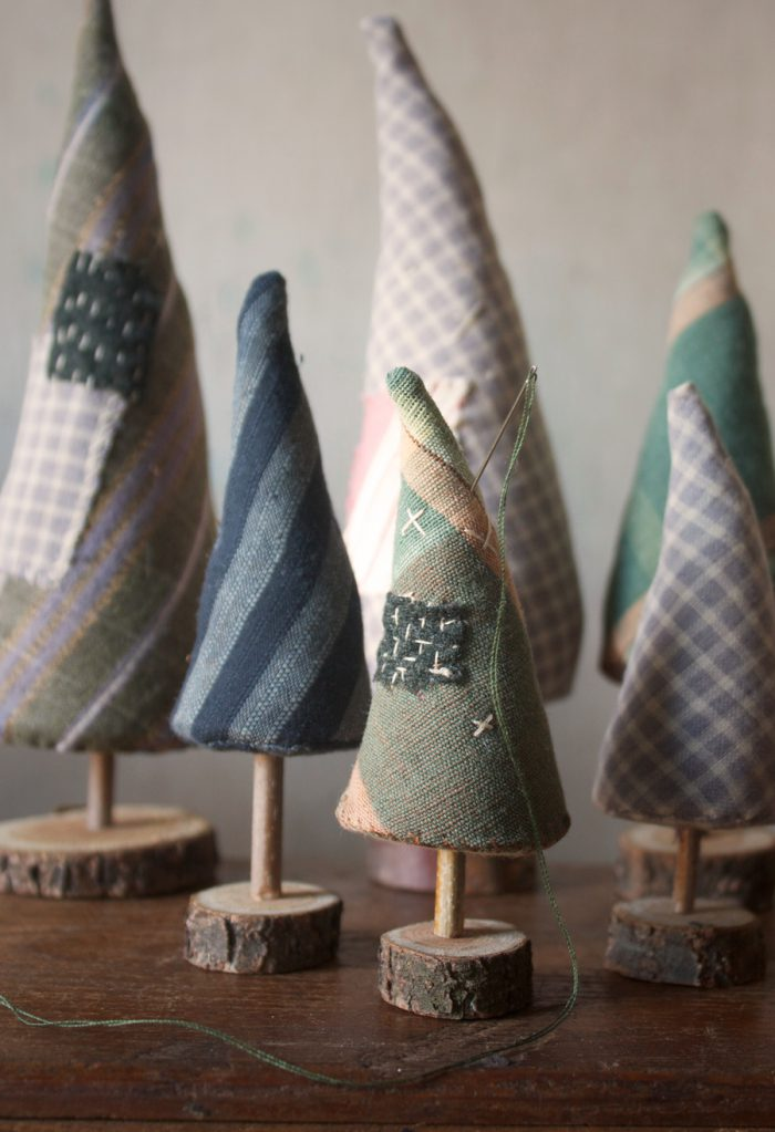 DIY Pine Trees Ornaments