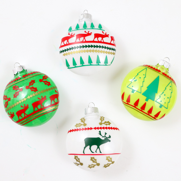 DIY Sweater Christmas Ornaments