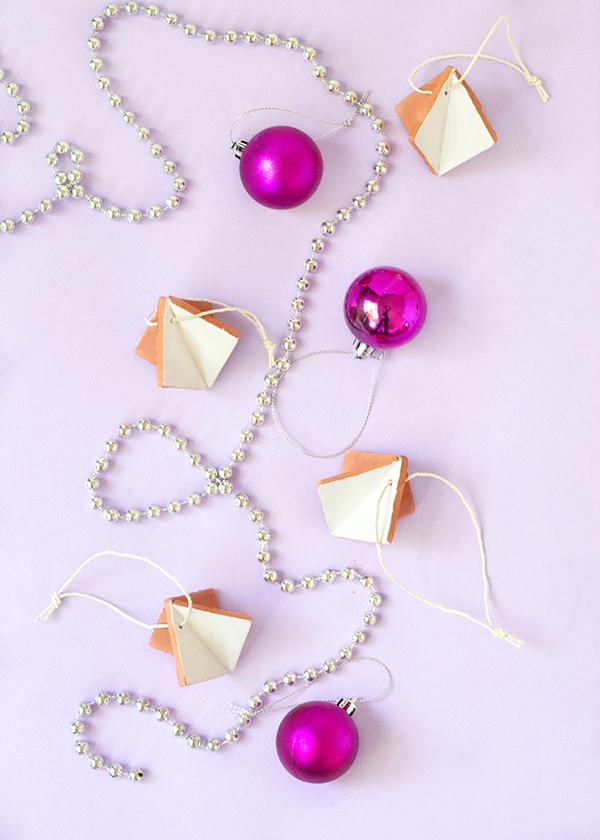 Diamond Terracotta Clay Christmas Ornaments