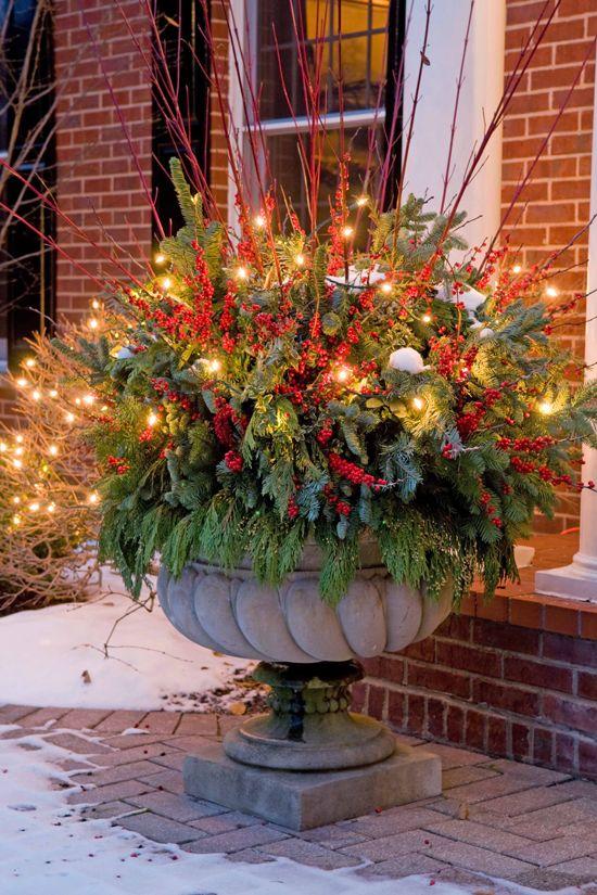 Outdoor Christmas Decorations Floral Arrangements