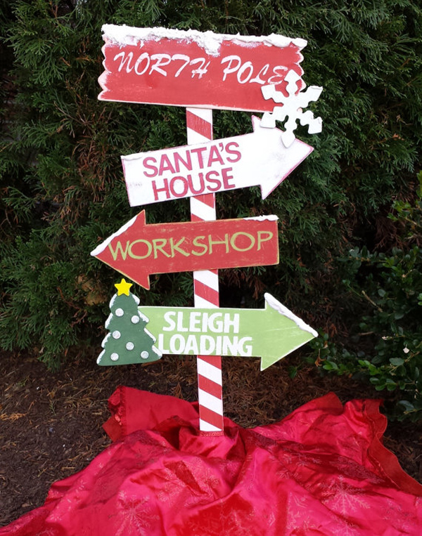 Outdoor Wooden Christmas Yard Decorations