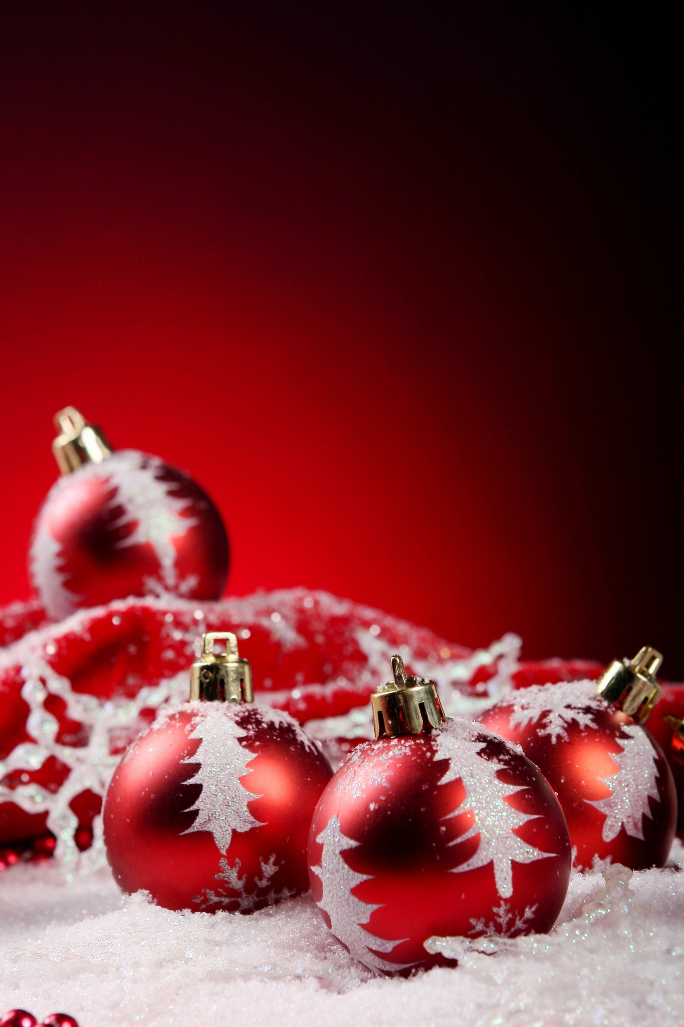 Red Christmas Ornament Decorations