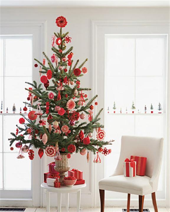 Red Christmas Tree Decorating Ideas Design
