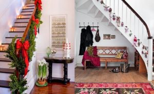 30 Best Christmas Staircase Decoration Ideas