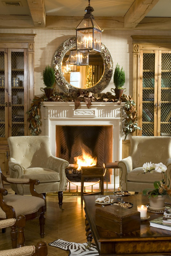 Christmas Fireplace Decorating Ideas