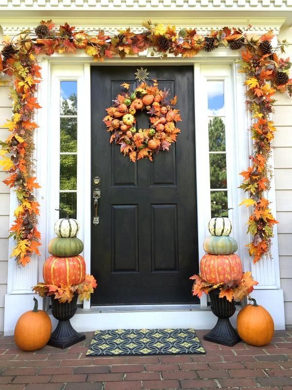 Cozy Pumpkin Topiaries Decoration