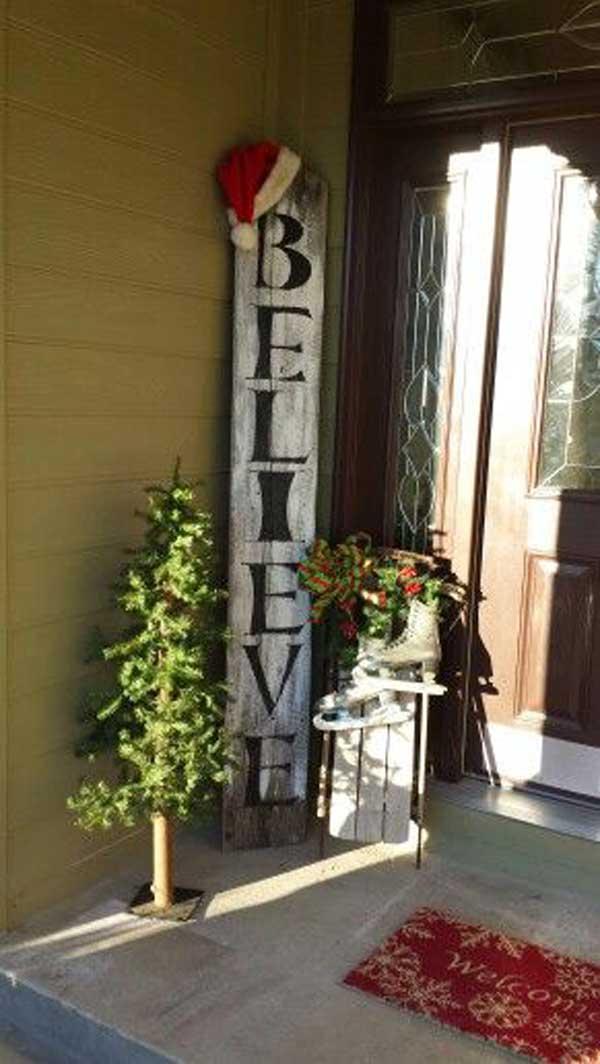 DIY Front Porch Christmas Decorating Ideas Design