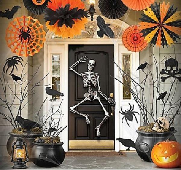 Festive Halloween Porch