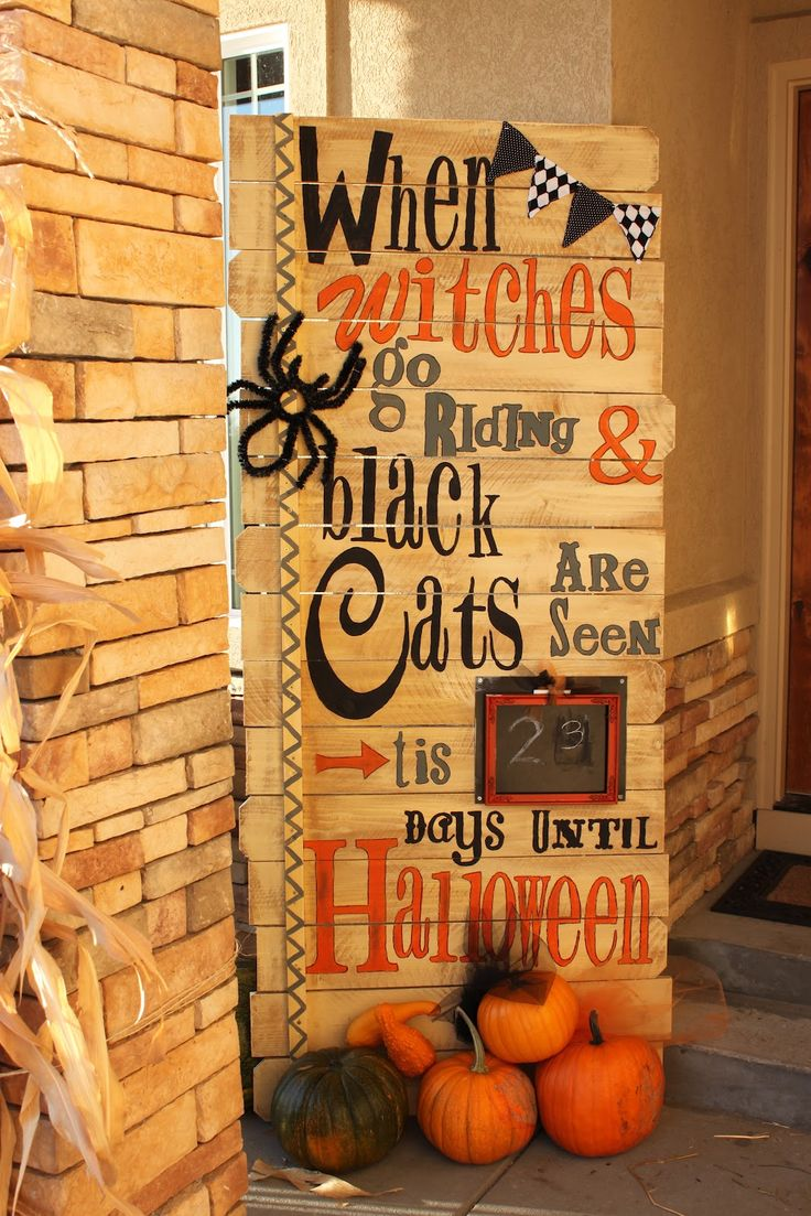 Halloween Countdown Counter Decoration