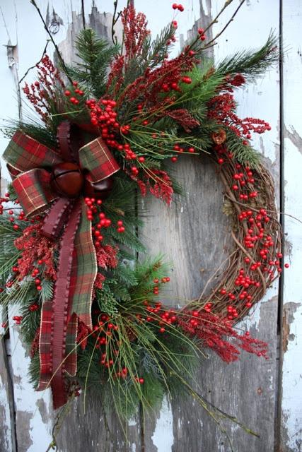 Rustic Christmas Wreath Ideas