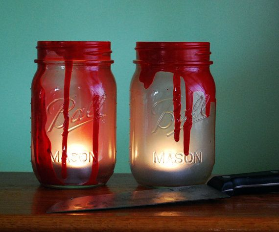 Halloween Mason Jar Candle Set