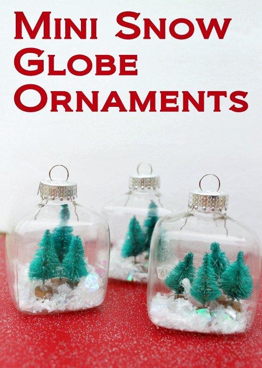 Mini Snow Globe Christmas Ornaments Thewowdecor