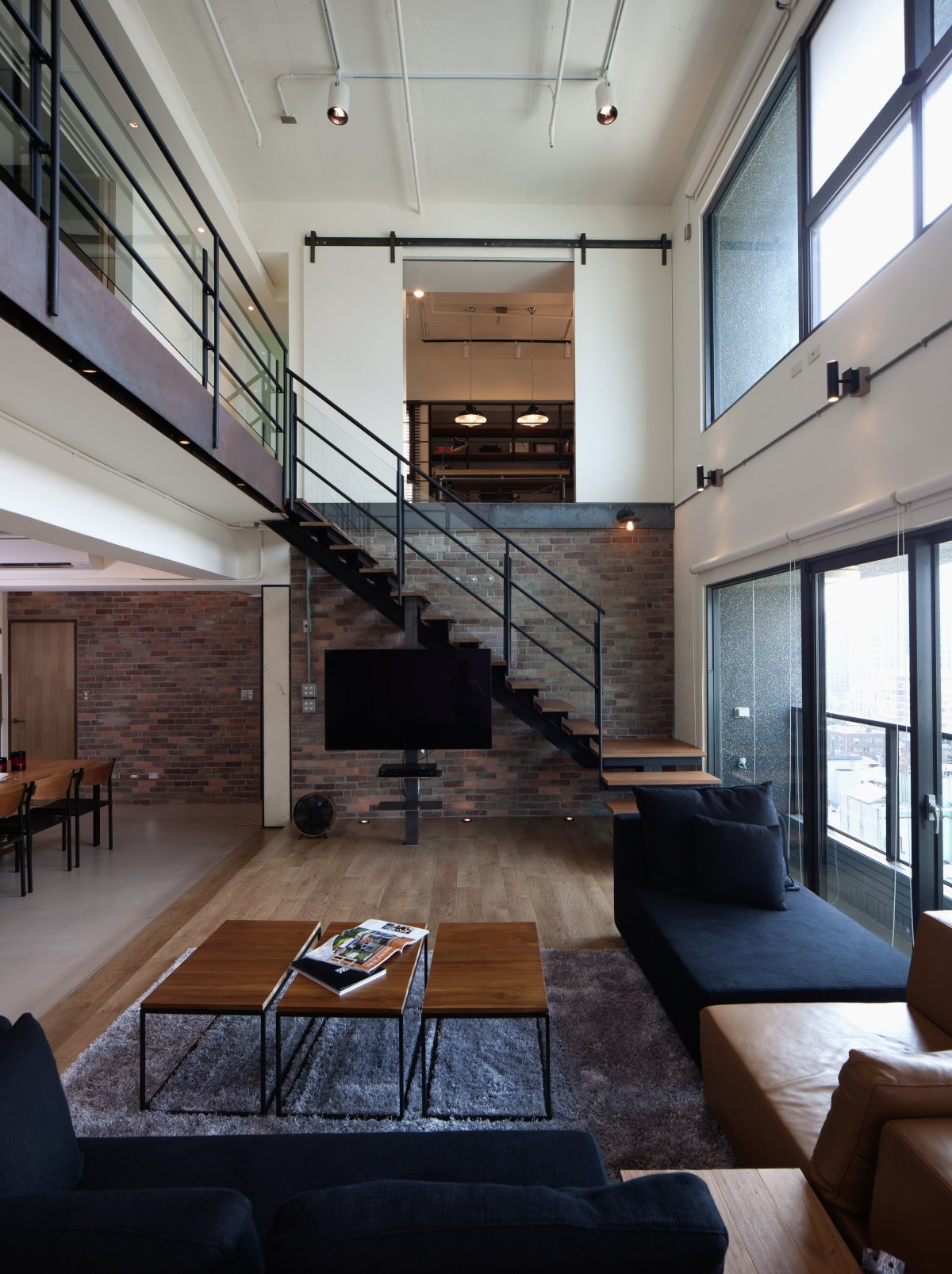 Living Room Design With Stairs