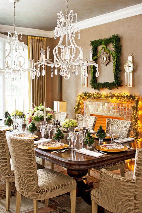 luxury Ornament Christmas Table dwellingdecor