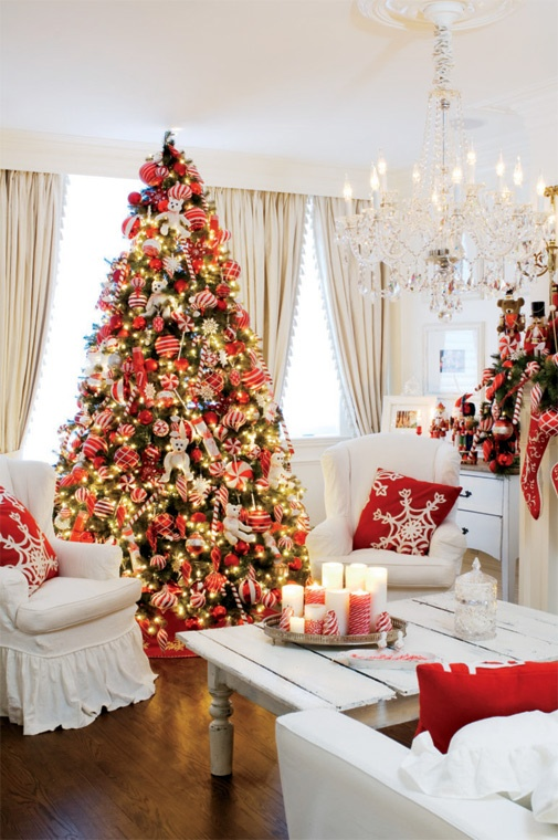 Christmas Living Room Decor Ideas thewowdecor (20)