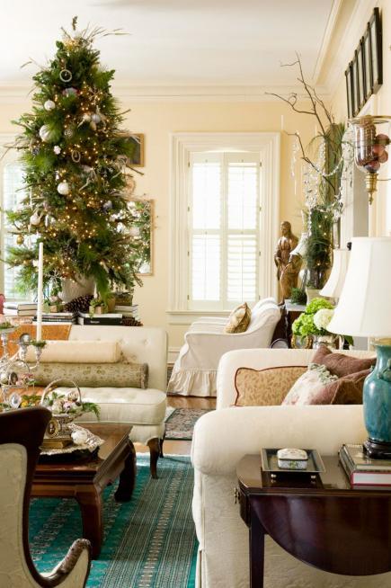 Christmas Living Room Decor Ideas thewowdecor (36)