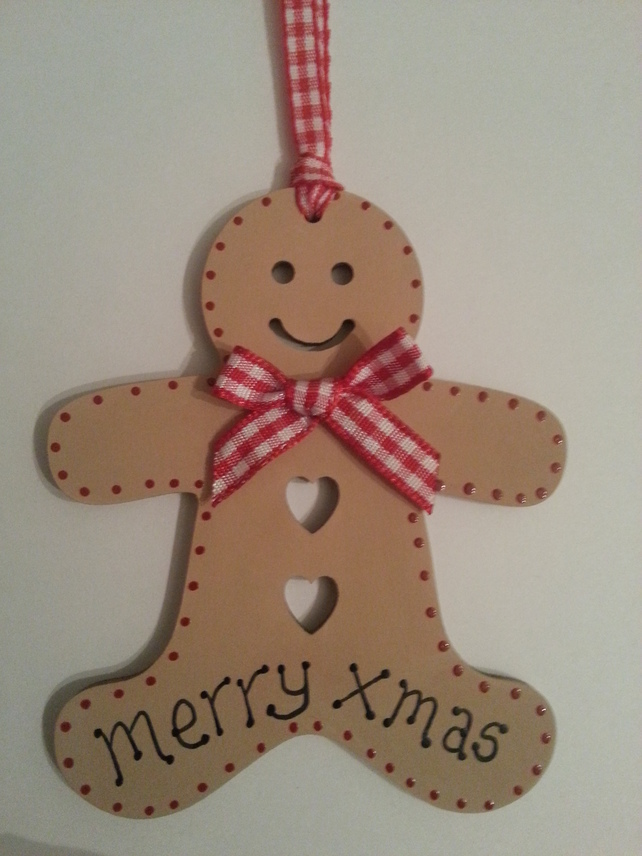 Christmas Wooden Gingerbread Men Decorations