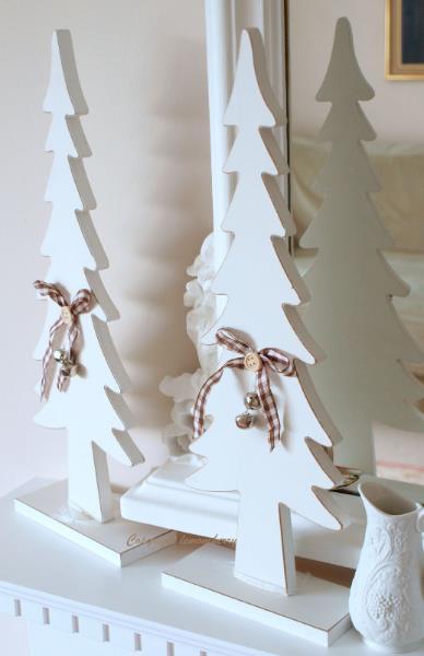 Wood Christmas Tree Decoration