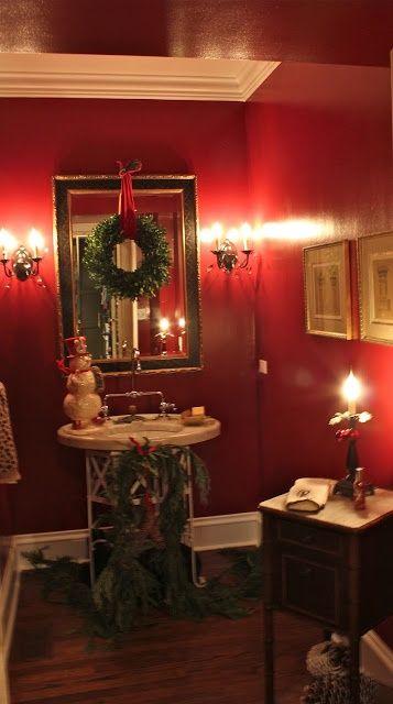 Christmas Holiday Bathroom Decor