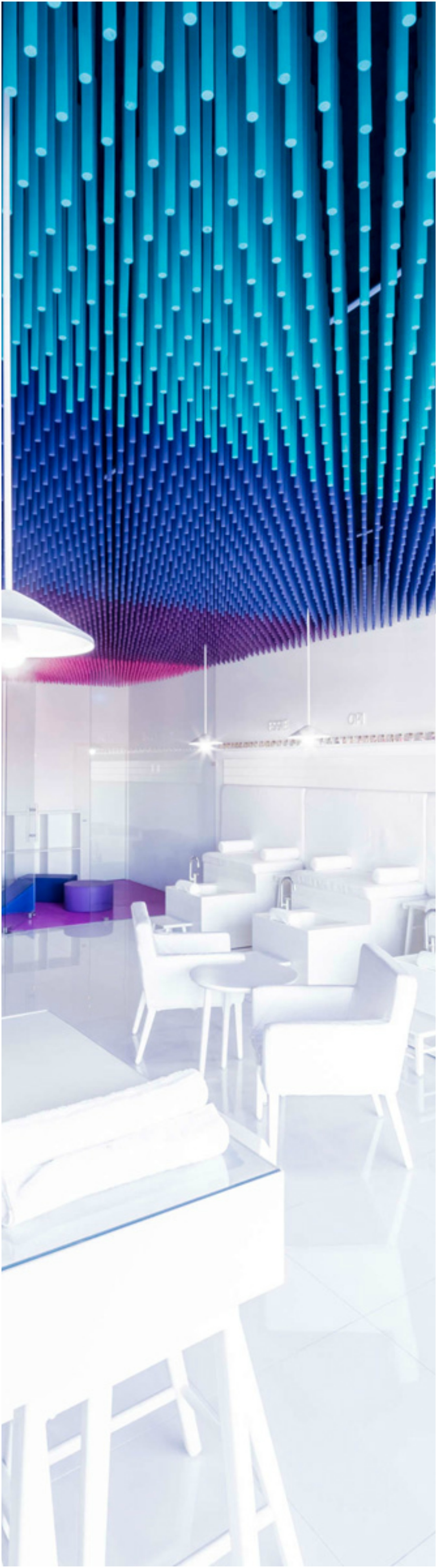 Color Blocked Sticks Ceiling Thewowdecor