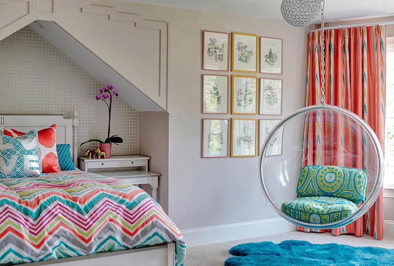 Teens Bedroom With Egg Chair Thewowdecor