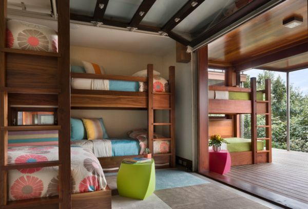 Bunk Beds On The Inside And Outside thewowdecor