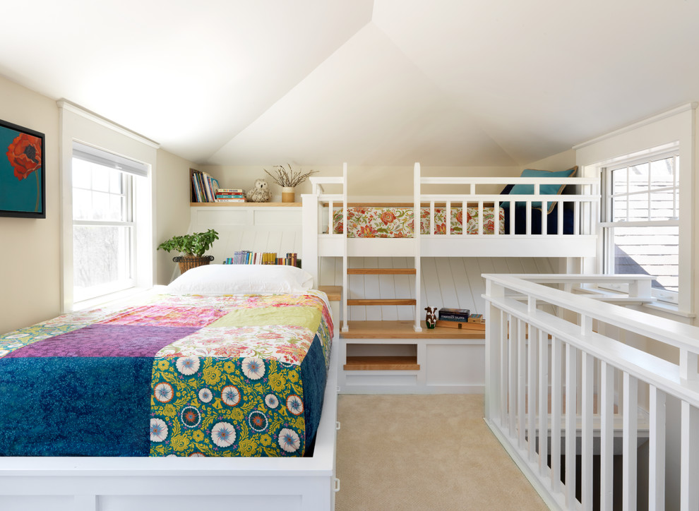 Farmhouse Style Bedroom With Bunk Bed Thewowdecor