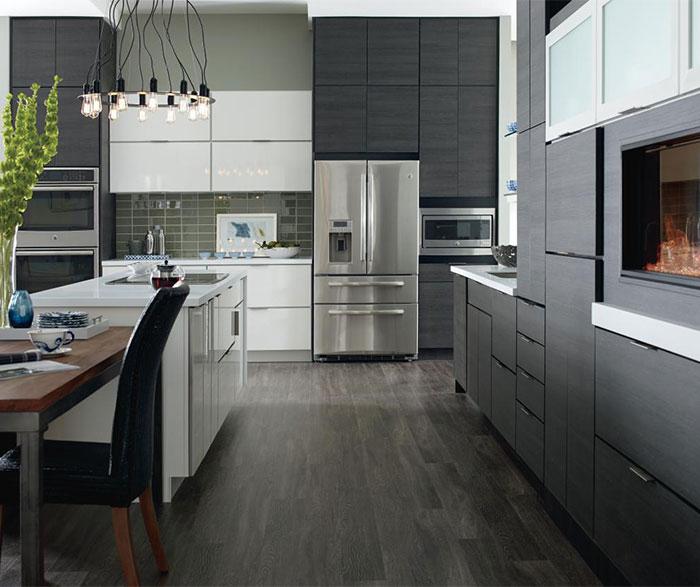 Laminate cabinets in a contemporary kitchen Thewowdecor