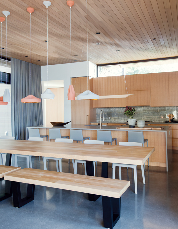 Open Concept Contemporary Kitchen With PVC Cabinets Thewowdecor