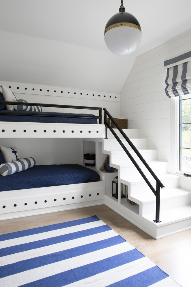 Transitional Bedroom With Stairs Thewowdecor