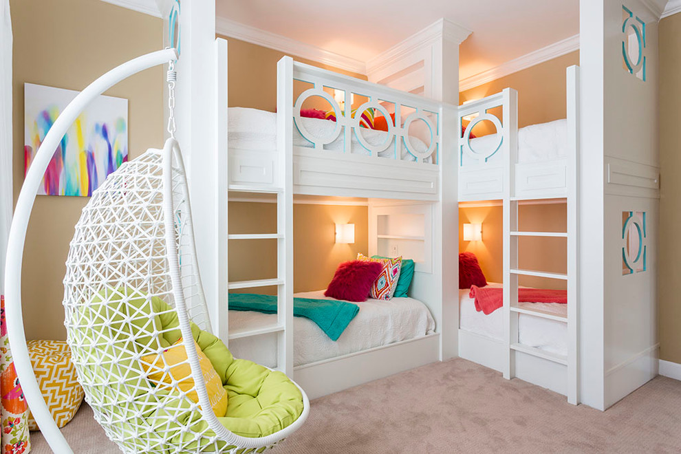 Transitional Style Built In Double Bunk Beds Thewowdecor