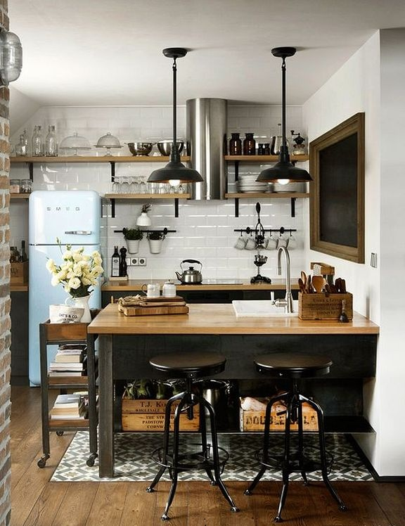 Industrial Small Kitchen