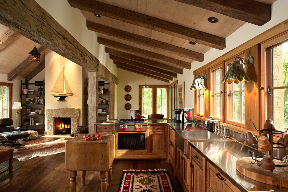 Rustic Stainless Steel Kitchen