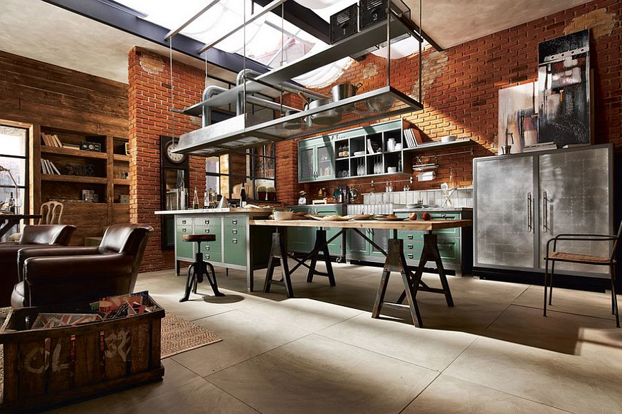 Skylight-brings-natural-light-into-the-custom-luxury-kitchen