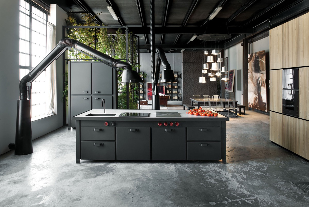 kitchen-island-industrial-style-adjustable-lamps
