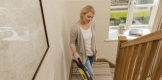 Vacuuming Stairs