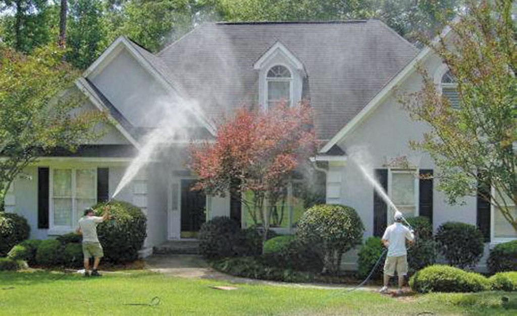 Pressure Wash the Exterior and Touch-Up Paint